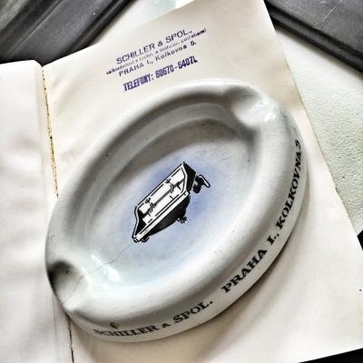 Advertising ashtray Schiller & Co Praha